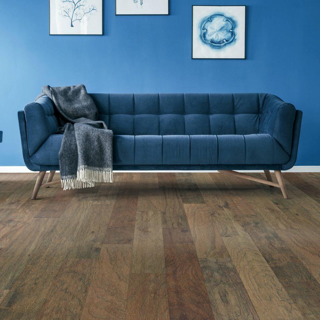 Classic blue colorwall | Noble Floors LLC