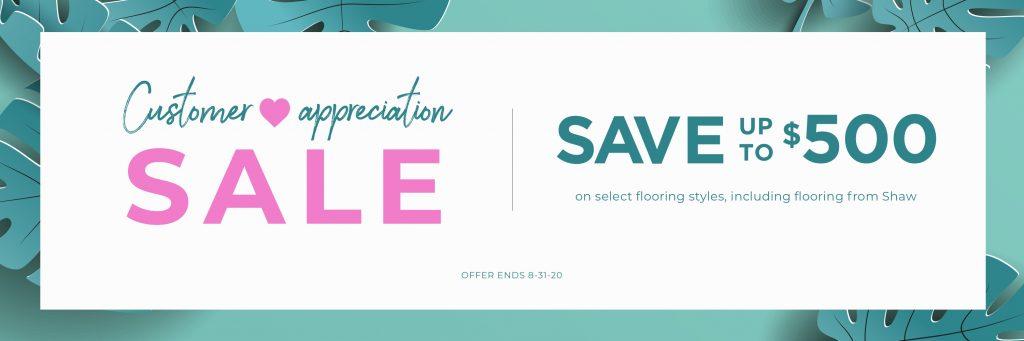 Customer Appreciation Sale | Noble Floors LLC